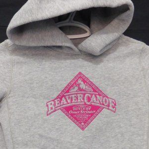 BEAVER CANOE, medium, grey sweatshirt, hoodie